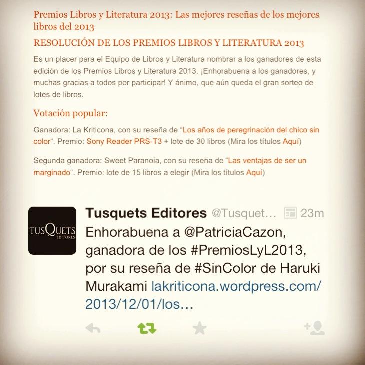 Premios Libros y Literatura 2013 by laKriticona